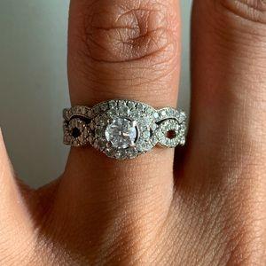 Neil lane wedding ring and band set
